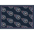 """Tennessee Titans 7' 8"""" x 10' 9"""" Team Repeat Area Rug (Navy Blue) by"""