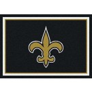 "New Orleans Saints 7' 8"" x 10' 9"" Team Spirit Area Rug (Black) by"