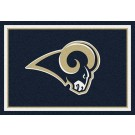 "St. Louis Rams 7' 8"" x 10' 9"" Team Spirit Area Rug (Navy Blue) by"