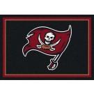 """Tampa Bay Buccaneers 7' 8"""" x 10' 9"""" Team Spirit Area Rug (Black) by"""