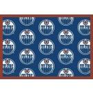 "Edmonton Oilers 7' 8"" x 10' 9"" Team Repeat Area Rug by"