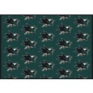 """San Jose Sharks 7' 8"""" x 10' 9"""" Team Repeat Area Rug by"""