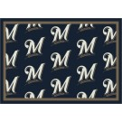 "Milwaukee Brewers 7' 8"" x 10' 9"" Team Repeat Area Rug by"