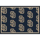 """San Diego Padres 7' 8"""" x 10' 9"""" Team Repeat Area Rug by"""