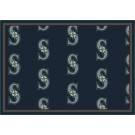 """Seattle Mariners 7' 8"""" x 10' 9"""" Team Repeat Area Rug by"""