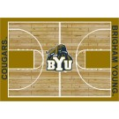 "Brigham Young (BYU) Cougars 7' 8"" x 10' 9"" Home Court Area Rug by"