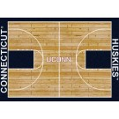 "Connecticut Huskies 7' 8"" x 10' 9"" Home Court Area Rug by"