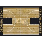 """Georgia Tech Yellow Jackets 7' 8"""" x 10' 9"""" Home Court Area Rug by"""