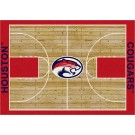 "Houston Cougars 5' 4"" x 7' 8"" Home Court Area Rug"