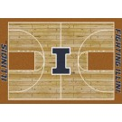 """Illinois Fighting Illini 7' 8"""" x 10' 9"""" Home Court Area Rug by"""