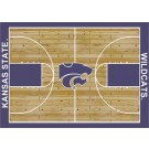 """Kansas State Wildcats 7' 8"""" x 10' 9"""" Home Court Area Rug by"""