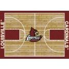 "Louisville Cardinals 5' 4"" x 7' 8"" Home Court Area Rug"