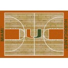 "Miami Hurricanes 7' 8"" x 10' 9"" Home Court Area Rug by"