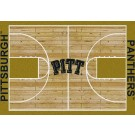 """Pittsburgh Panthers 7' 8"""" x 10' 9"""" Home Court Area Rug by"""