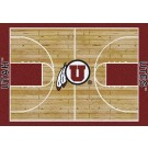 """Utah Utes 7' 8"""" x 10' 9"""" Home Court Area Rug by"""