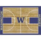 "Washington Huskies 7' 8"" x 10' 9"" Home Court Area Rug by"