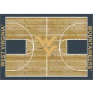"""West Virginia Mountaineers 7' 8"""" x 10' 9"""" Home Court Area Rug by"""
