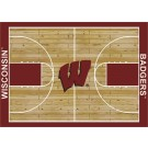 """Wisconsin Badgers 7' 8"""" x 10' 9"""" Home Court Area Rug by"""