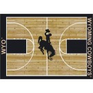 "Wyoming Cowboys 7' 8"" x 10' 9"" Home Court Area Rug by"