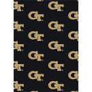 """Georgia Tech Yellow Jackets 7' 8"""" x 10' 9"""" Team Repeat Area Rug by"""