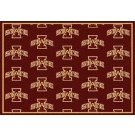 """Iowa State Cyclones 7' 8"""" x 10' 9"""" Team Repeat Area Rug by"""