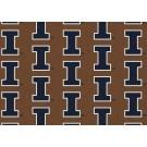 """Illinois Fighting Illini 7' 8"""" x 10' 9"""" Team Repeat Area Rug by"""