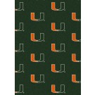 "Miami Hurricanes 7' 8"" x 10' 9"" Team Repeat Area Rug by"