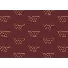 "Virginia Tech Hokies 7' 8"" x 10' 9"" Team Repeat Area Rug by"