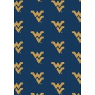"""West Virginia Mountaineers 7' 8"""" x 10' 9"""" Team Repeat Area Rug by"""