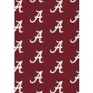 "Alabama Crimson Tide 5' 4"" x 7' 8"" Team Repeat Area Rug (""A"" Logo)"