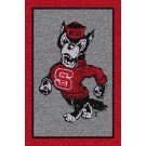 North Carolina State Wolfpack (Vertical) 5' x 8' Team Door Mat by