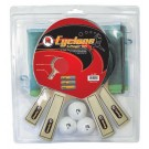"Martin Kilpatrick ""Cyclone"" 4-Player Table Tennis Racket and Ball Set"