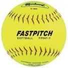 "11"" Yellow Fast Pitch Softballs from Markwort - 1 Dozen"