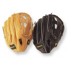 "12 1/2"" Tan Clover Open Web Outfield Baseball Glove from Markwort - (Worn on Right Hand)"