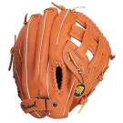 "12 1/2"" Tan Clover Open Web Outfield Baseball Glove from Markwort - (Worn on Left Hand)"
