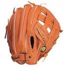 "12 1/2"" Tan Clover Open Web Outfield Baseball Glove from Markwort - (Worn on Left Hand)"