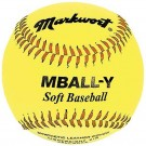 "9"" Soft and Light Yellow Youth Baseballs from Markwort - (One Dozen)"