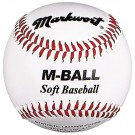"9"" Soft and Light White Youth Baseballs from Markwort - (One Dozen)"