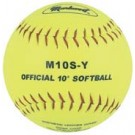 "10"" Synthetic Cover Yellow Softballs from Markwort - One Dozen"