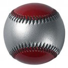 """9"""" Mirror-Tint Two-Color Baseballs (Silver / Red) from Markwort - 1 Dozen"""