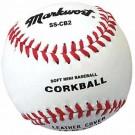 Soft Safe Cork Ball Style Mini-Baseballs - 1 Dozen