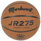 Junior Size Synthetic Leather Basketball with Wide Channels from Markwort