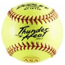 "12"" Spalding Thunder Heat WT12 Red Stitch .47 COR Yellow Leather Softballs from Dudley - (One Dozen)"
