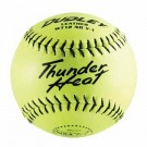 "12"" Thunder Heat WT12 Leather Red Stitch Softballs from Dudley - 1 Dozen"