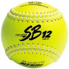 "12"" Spalding SB12 Cork Center .47 COR Yellow NFHS Fast Pitch Softballs from Dudley - (One Dozen)"