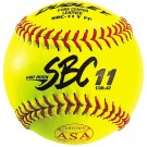 "11"" SBS11 Cork Center Red Stitch .47 COR Softballs from Dudley - (One Dozen)"