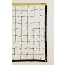 Markwort Black Polyethylene Volleyball Net - Yellow Top Band