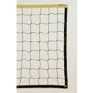 Markwort Black Polyethylene Volleyball Net - Yellow Top Band