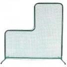 "84"" x 84"" L-Frame Pitcher's Screen with Protective Net from Markwort"