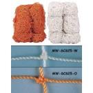 Markwort Orange 2.5 mm Soccer Goal Net - 1 Pair